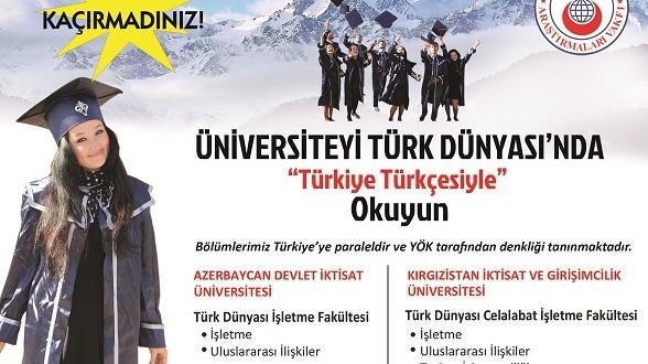 Üniversiteyi Yurtdışında Türkiye Türkçesi İle Okuyun